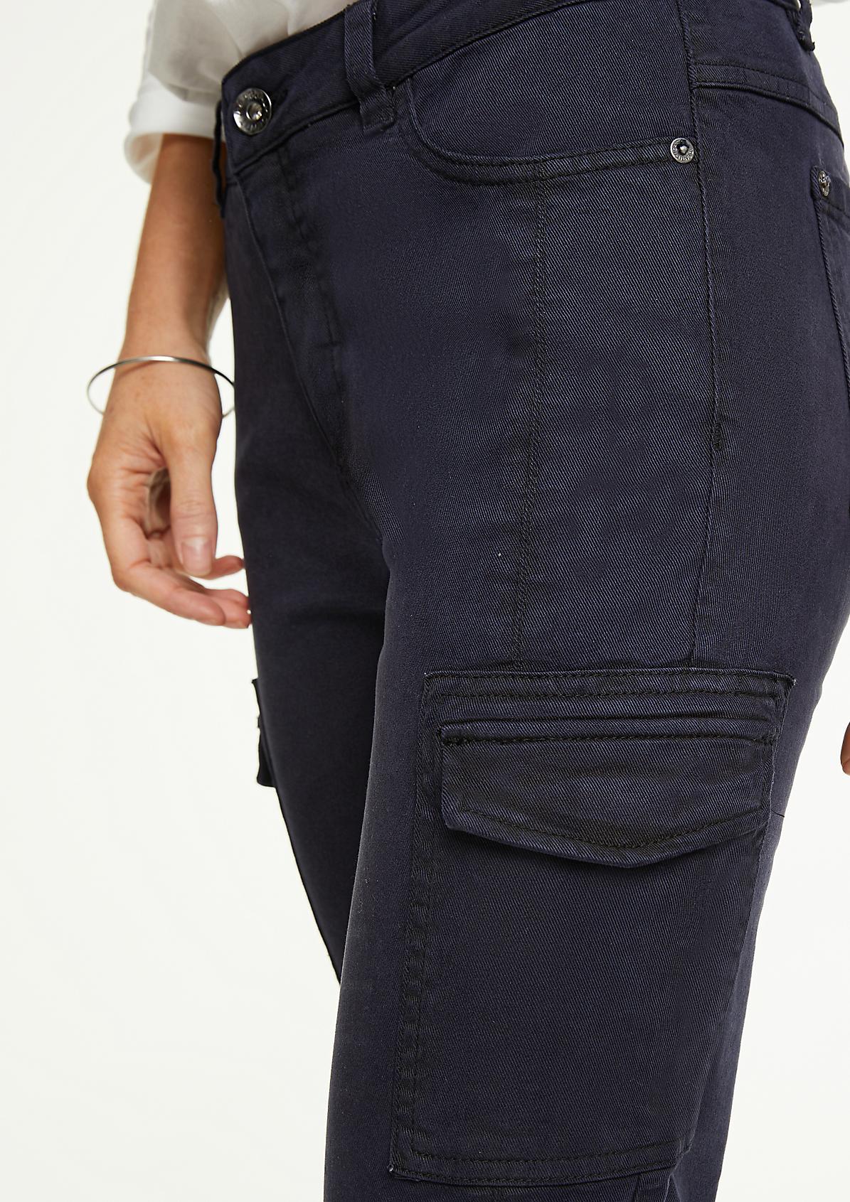 Slim Fit: Hose im Cargo-Stil