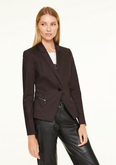 Stretch blazer with zip pockets from comma