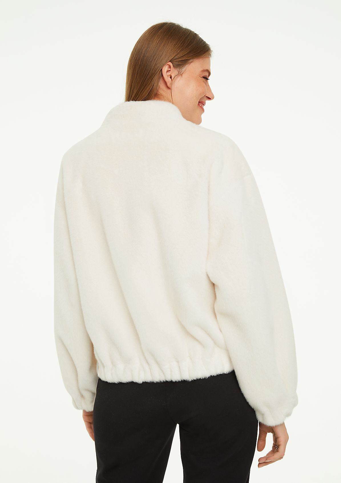 Cosy jacket with a high neckline from comma