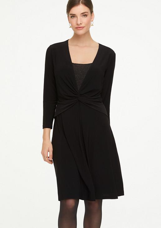 Kleid mit glitzerndem Insert