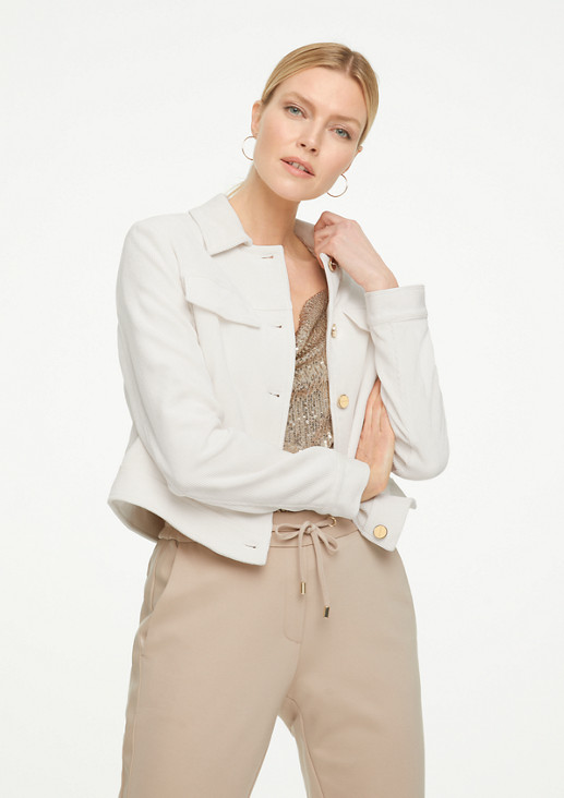 Cropped Jacket aus Cord