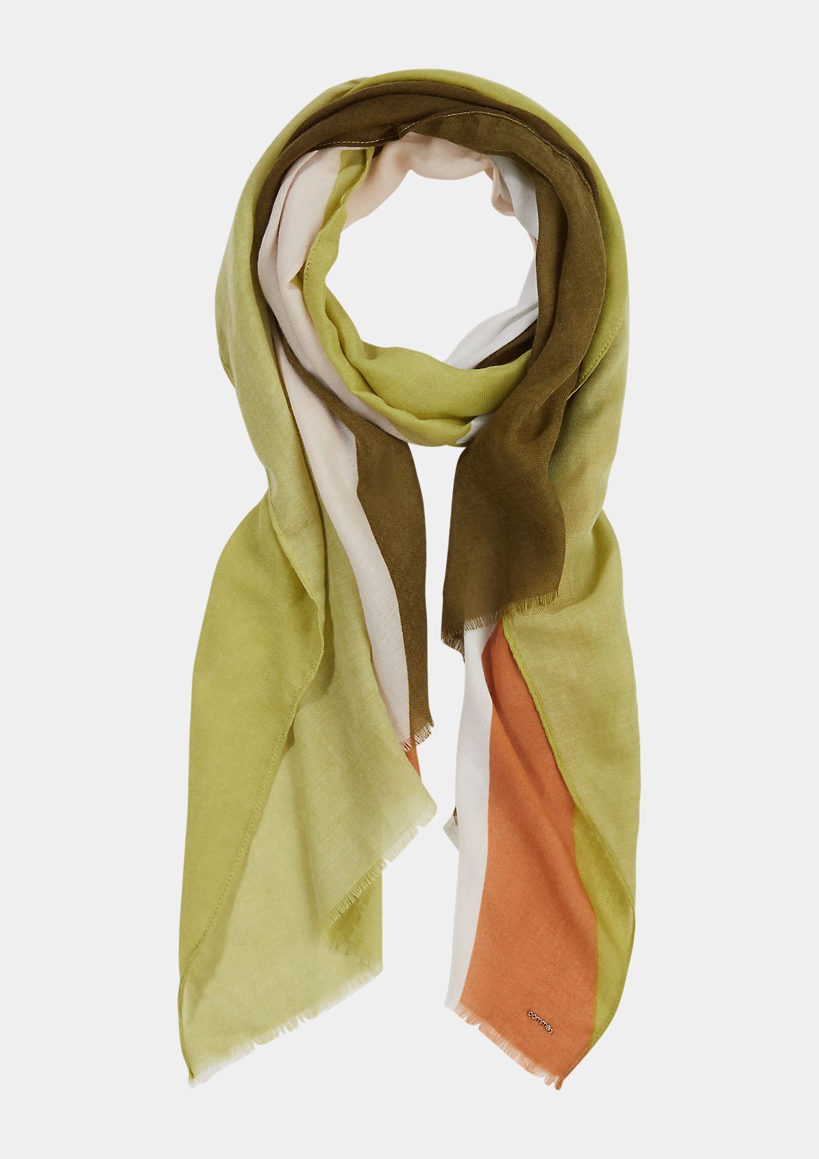Scarf with striped pattern from comma