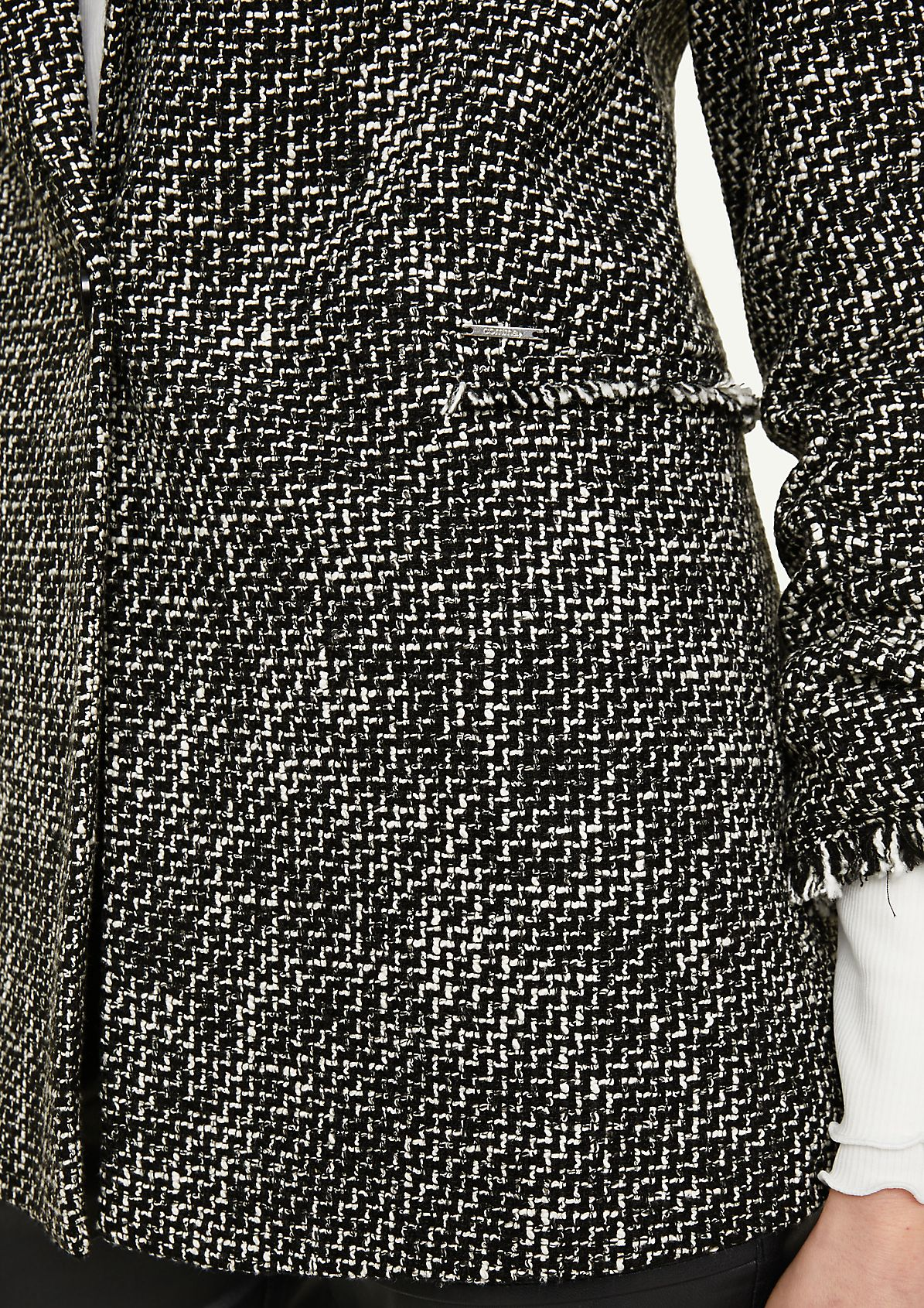 Blazer mit Fransen-Detail
