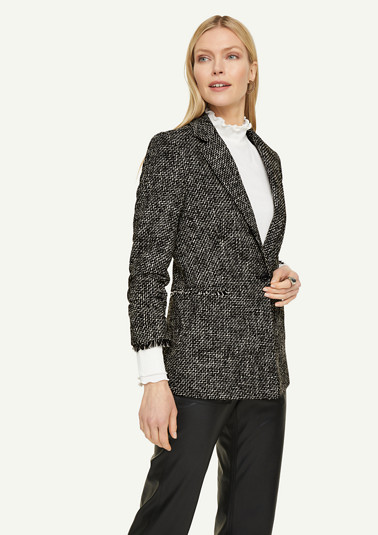 Blazer with fringed detail from comma