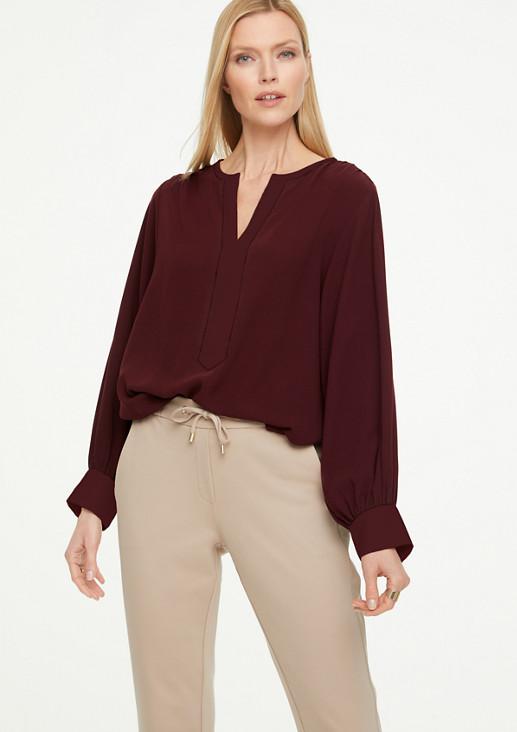 Bluse mit Colour Blocking-Effekt