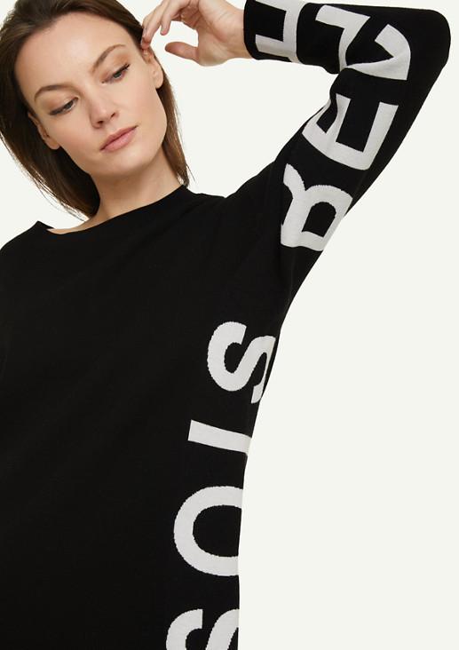 Pullover mit Wording-Detail