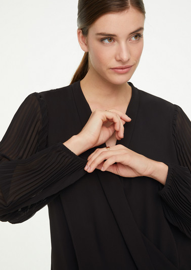 Plissé wrap blouse from comma