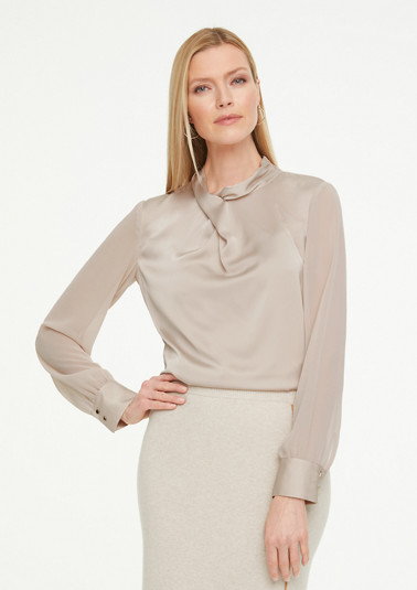 Long sleeve blouse with chiffon sleeves from comma