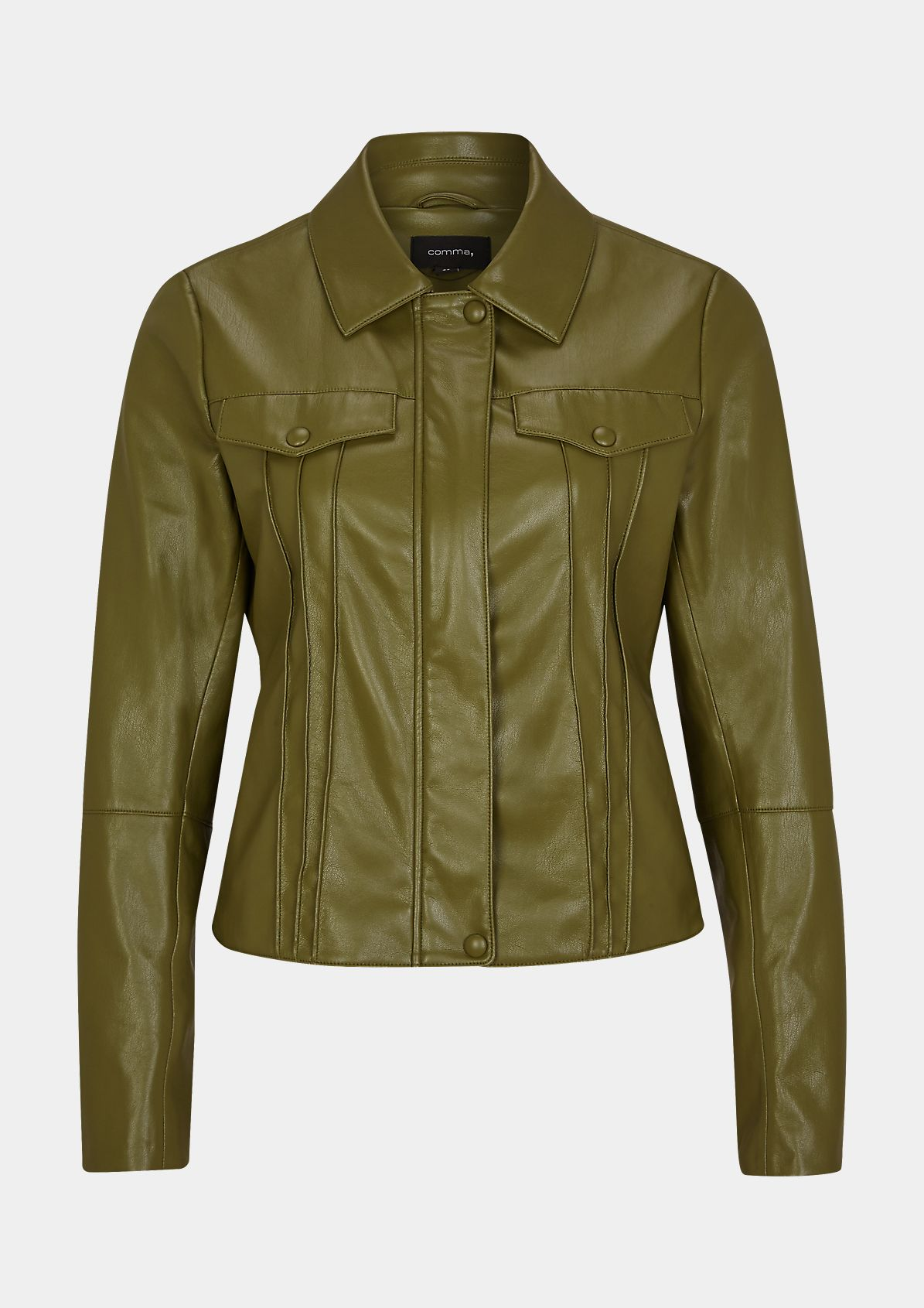 Smooth faux leather jacket from comma
