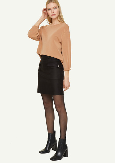 High-waisted skirt with pockets from comma