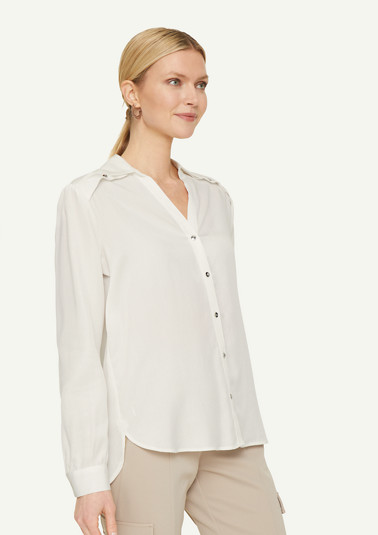Lyocell blouse with a button detail from comma