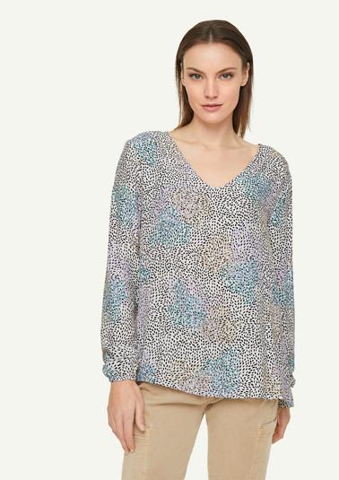 Lockere Bluse mit Gummibündchen
