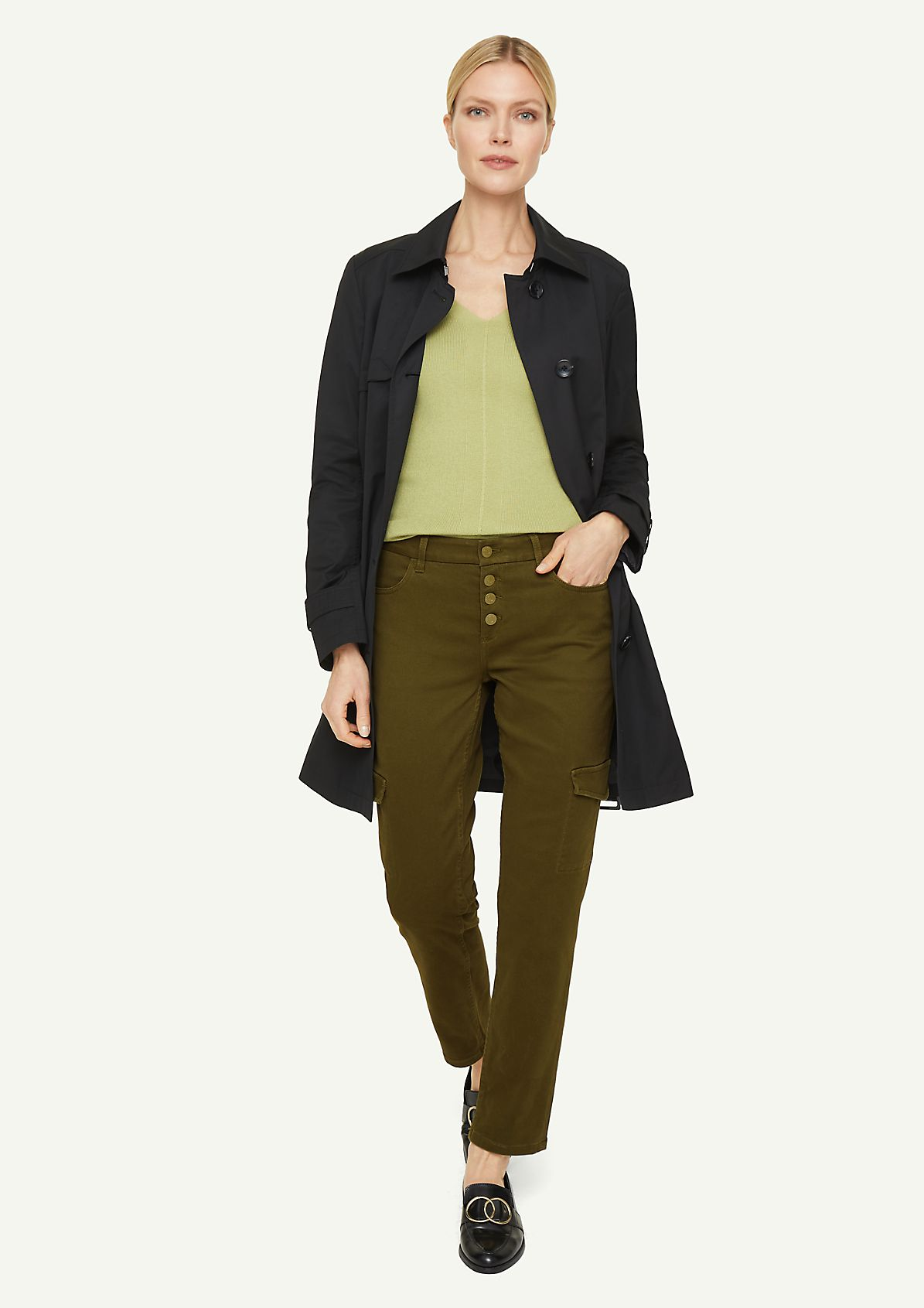 Relaxed Fit: Stretch jeans with a 7/8-length leg from comma