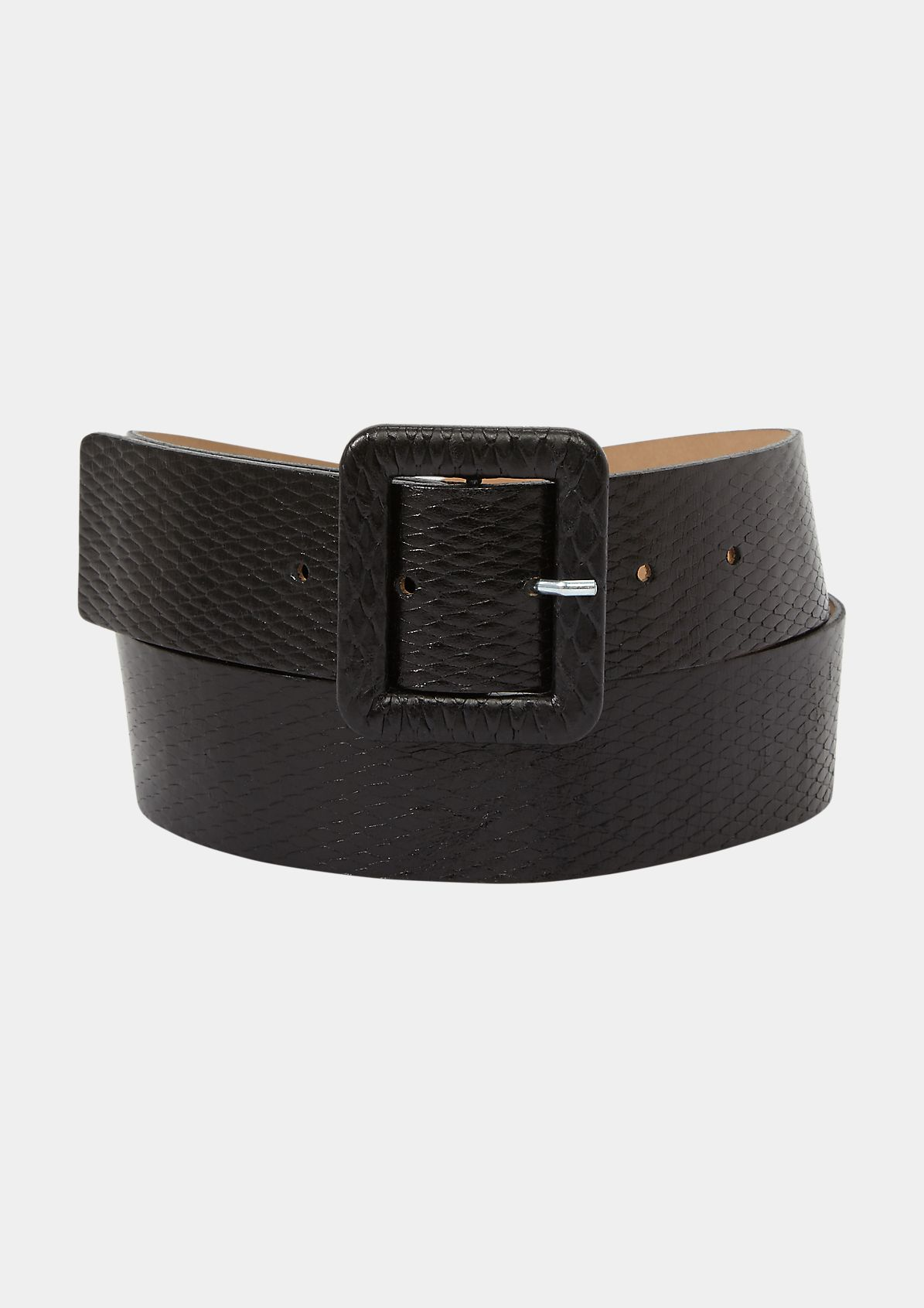 Cowhide belt in a crocodile finish from comma