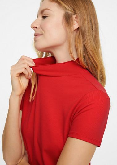 Shirt mit Rüschen-Stehkragen