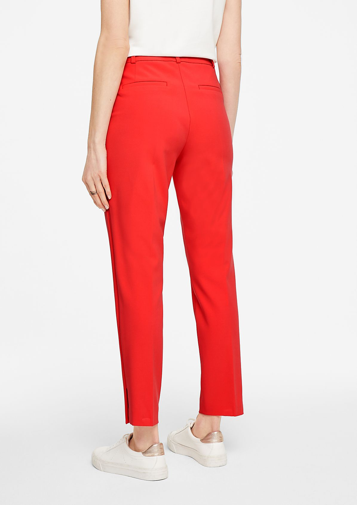 Regular Fit: ankle-length trousers with slits from comma