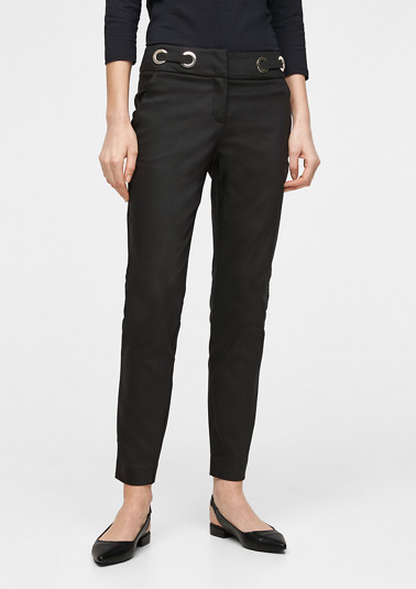 Stretch trousers with decorative eyelets from comma