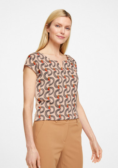 Blouse top with a satin front from comma
