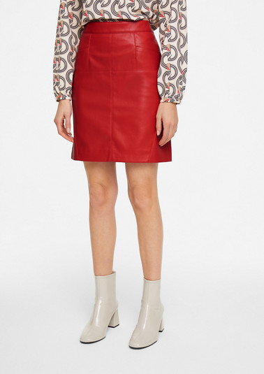 Faux leather skirt from comma