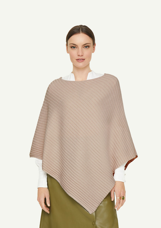 Rib knit poncho from comma