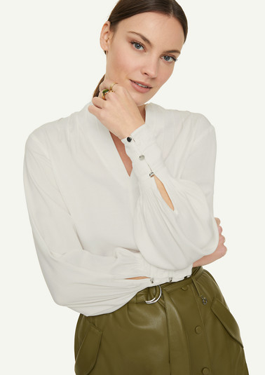 Blouse with wide sleeves from comma