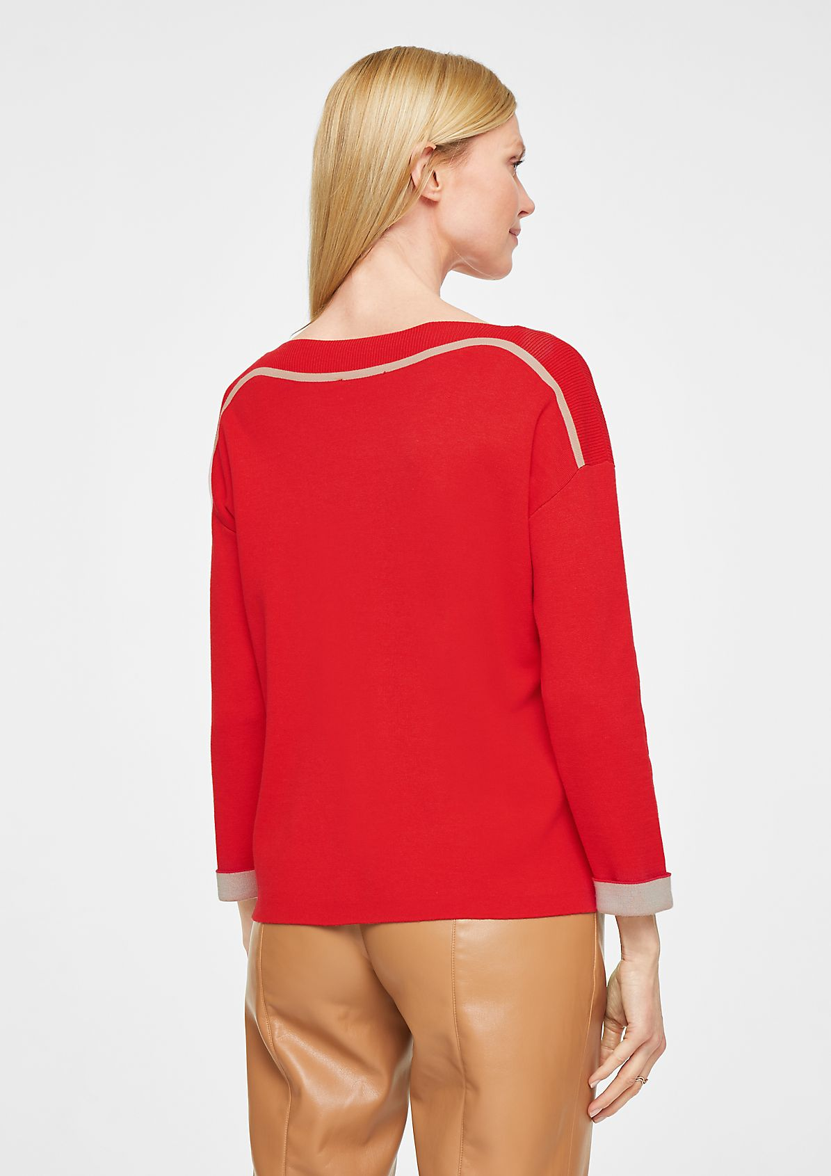 Knit jumper with a bateau neckline from comma
