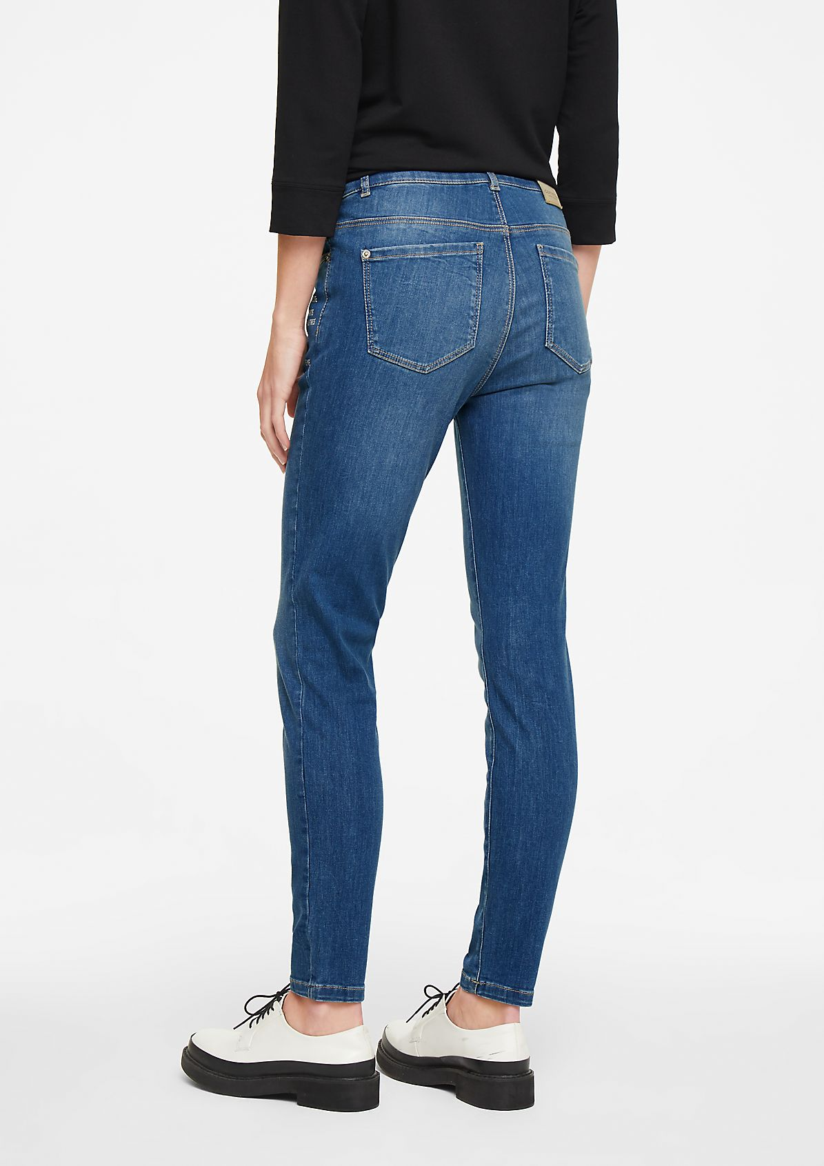 Skinny Fit: Jeans mit Artwork