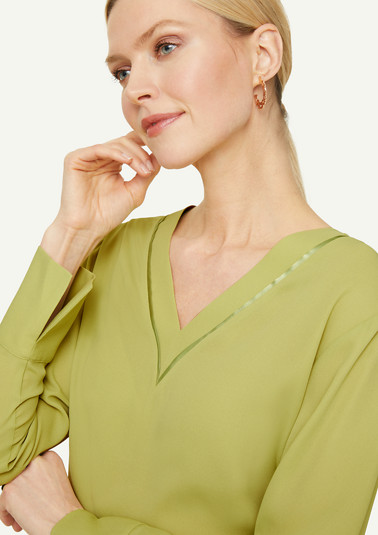 Long sleeve blouse with satin details from comma