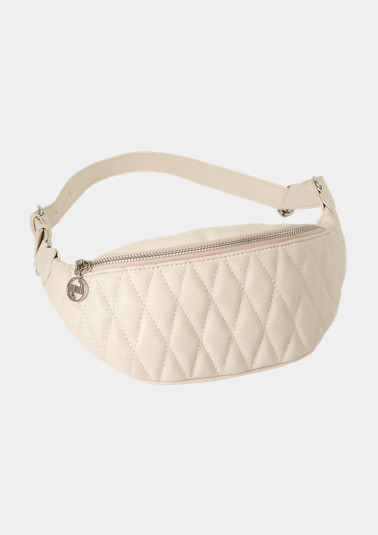 Belt bag with a quilted pattern from comma