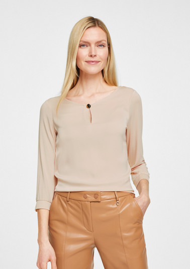 Blouse top with 3/4-length sleeves from comma