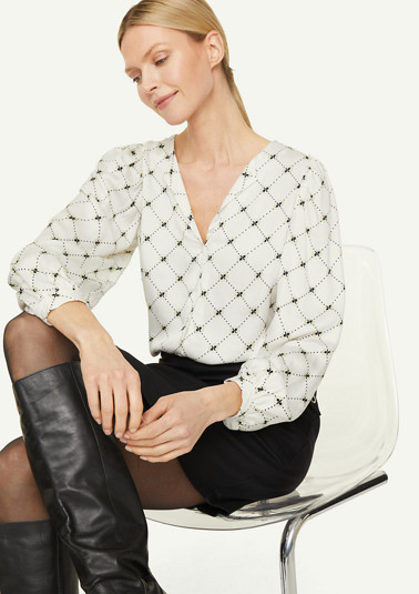 Printed blouse with wide sleeves from comma