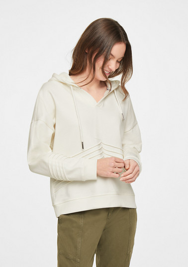 Hoodie with pintuck pleats from comma