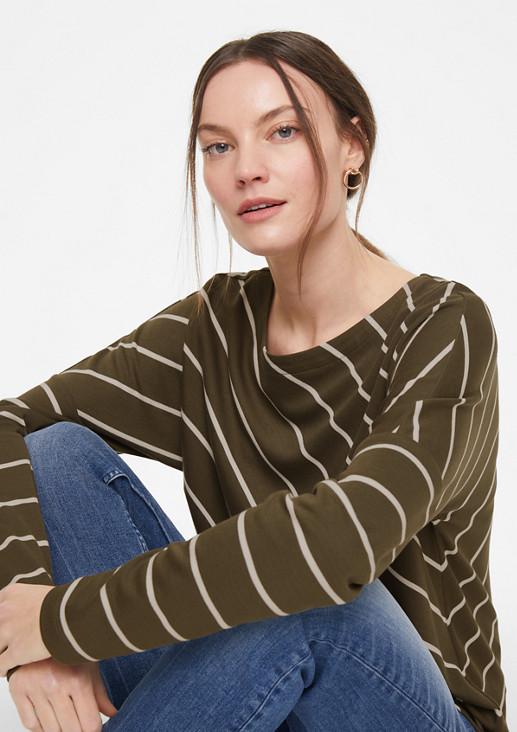 Jerseyshirt mit Diagonal-Streifen