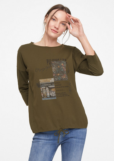 Casual top with a photo print from comma