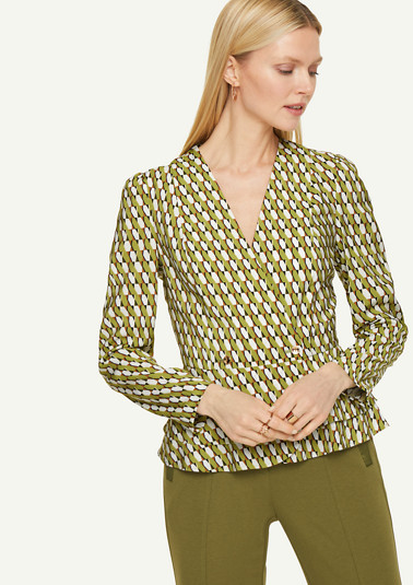 Blouse with an all-over print from comma