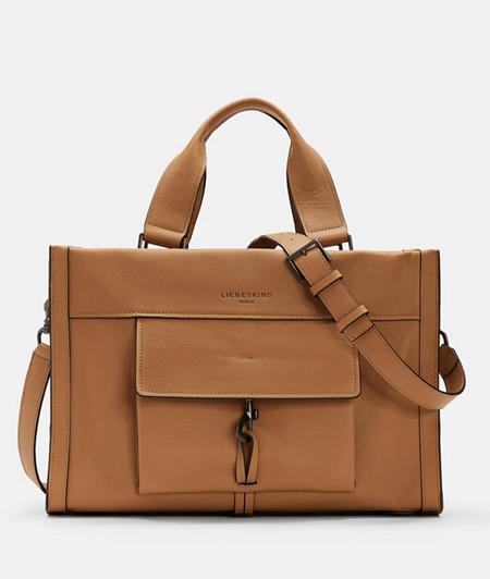 Satchel bag with carabiner fastener from liebeskind