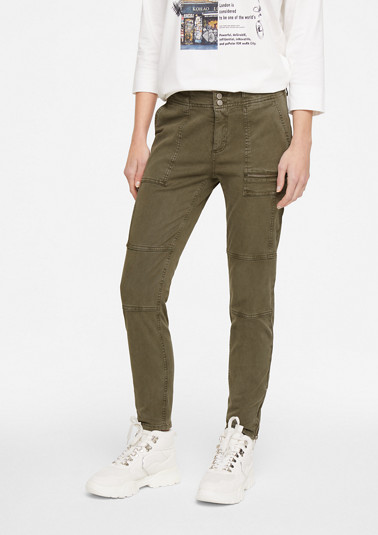 Skinny Fit: garment-dyed trousers from comma