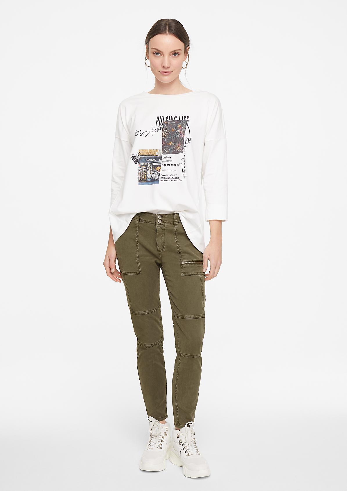 Skinny Fit: Hose mit Garment Dye