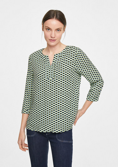 Viscose blouse with 3/4-length sleeves from comma