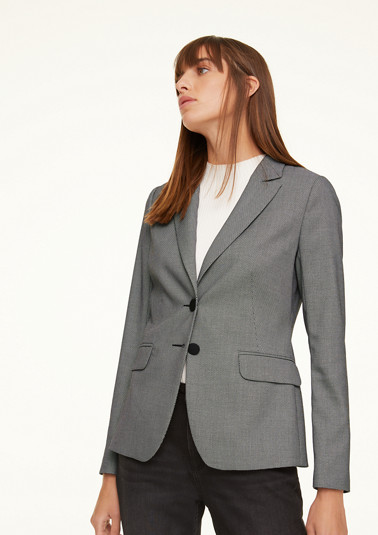 Blazer with a melange texture from comma