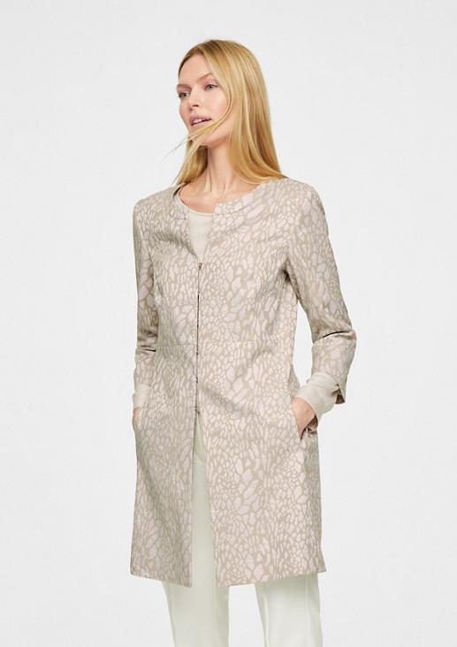 Jacquard coat from comma