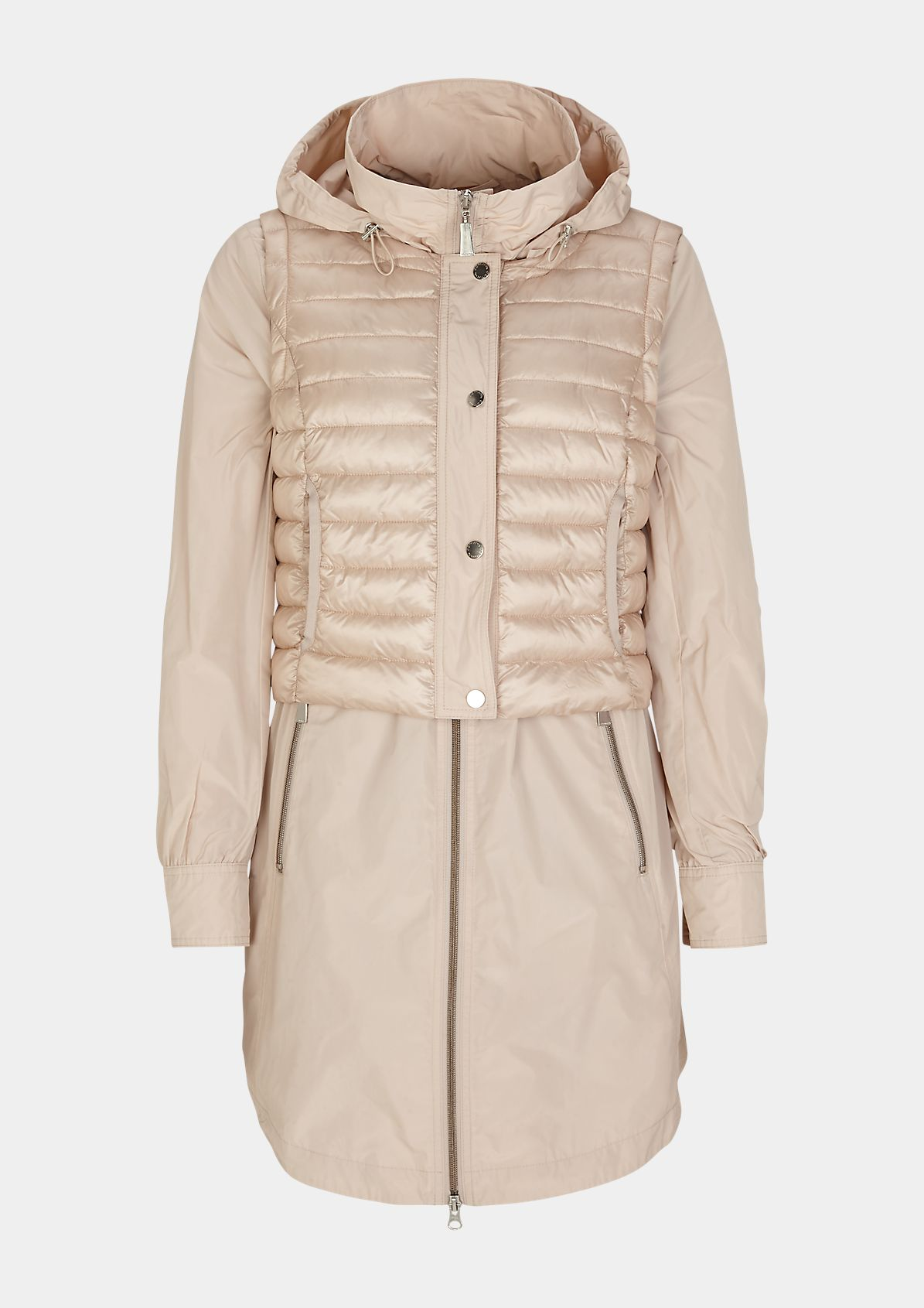 Parka with detachable quilted body warmer from comma