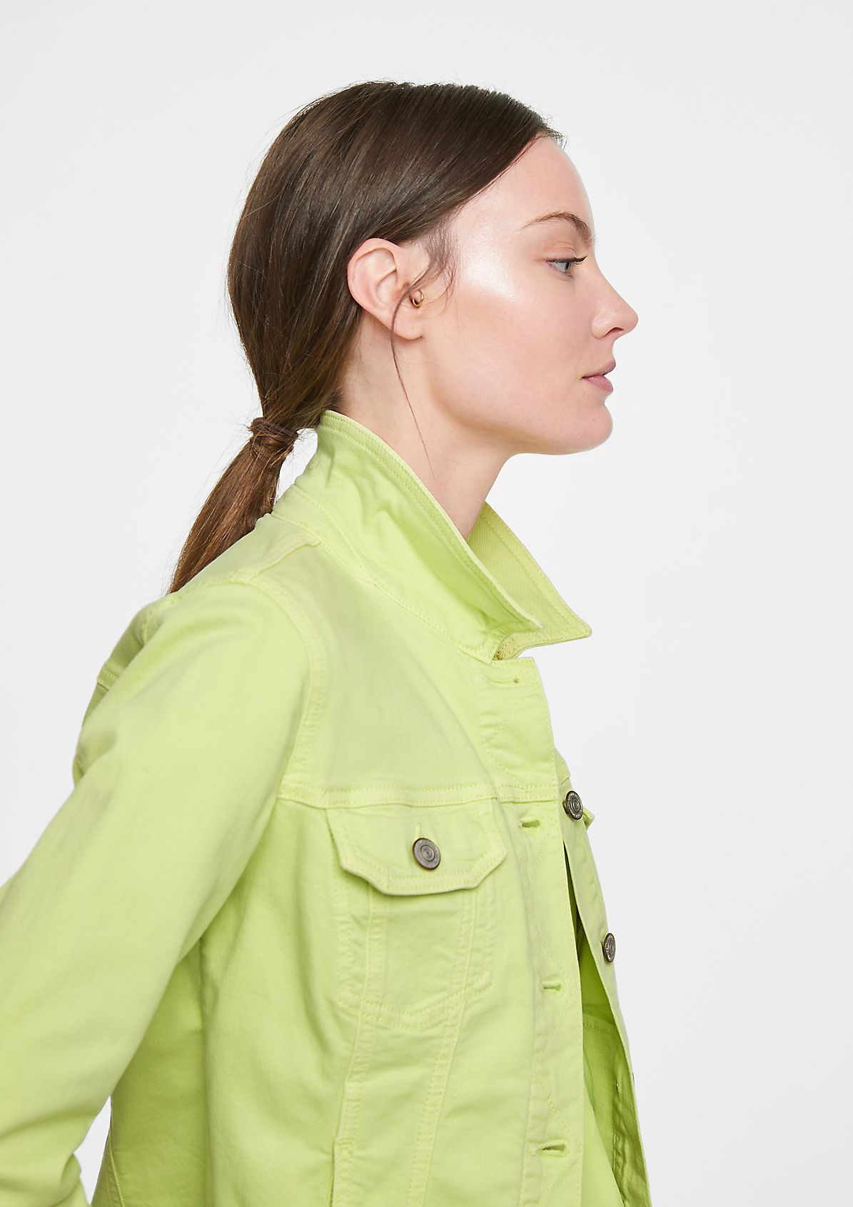 Jeansjacke mit Wascheffekt