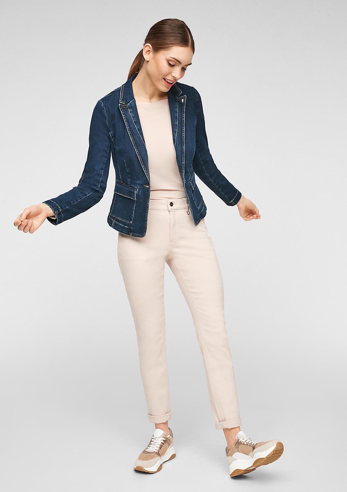 Taillierter Blazer aus Jeans