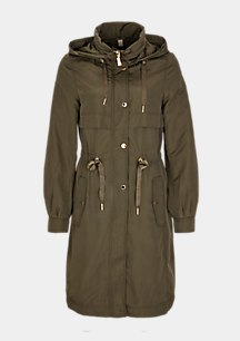 Parka in Nylon-Optik