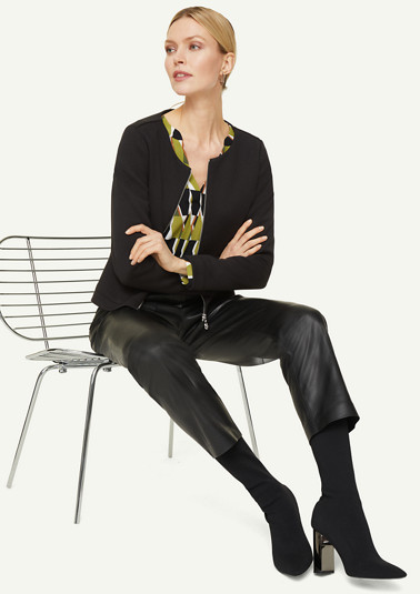 Elegante Jacke im Scuba-Style