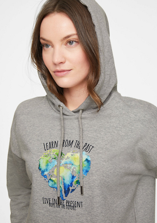 Sweatshirt with a statement print motif from comma