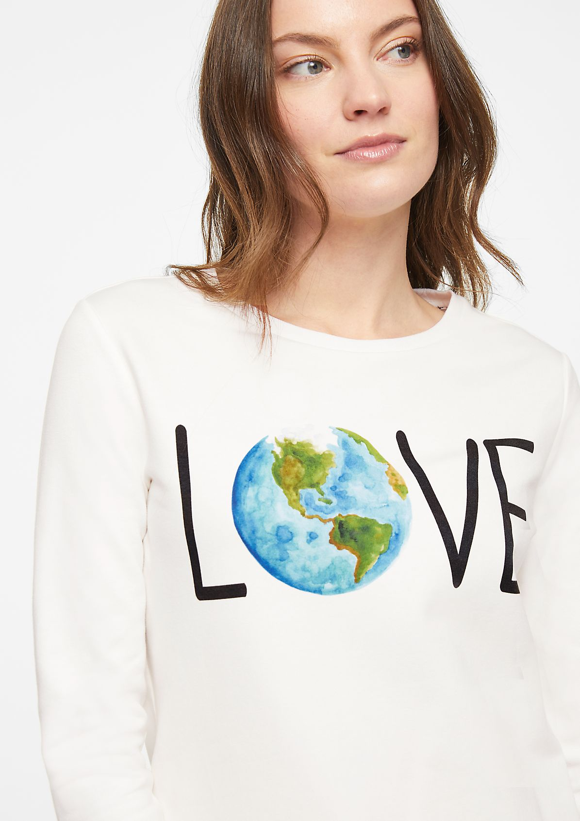 Sweatshirt with a statement print from comma