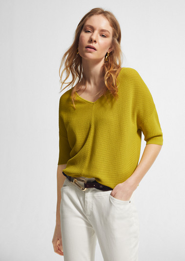 Loose jumper with a ribbed texture from comma