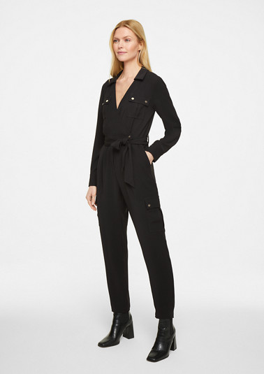 Jumpsuit with a wrap neckline from comma